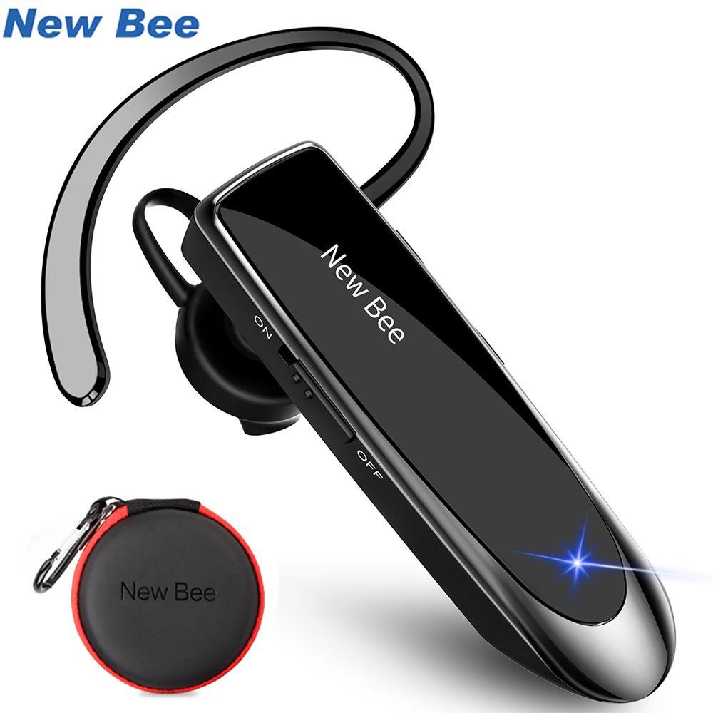 Nouveau Abeille Sans Fil Bluetooth Écouteurs Portable Casque Bluetooth Casque Mains Libres Intra-auriculaires avec micro cas en Voiture pour Téléphone