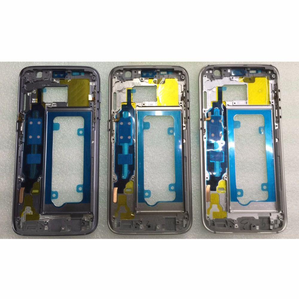 Mittleren Frame Für Samsung Galaxy S7 G930 G930F Mid Bezel Metallrahmen Gehäuse Chassis mit Seitentaste Ersatzteile