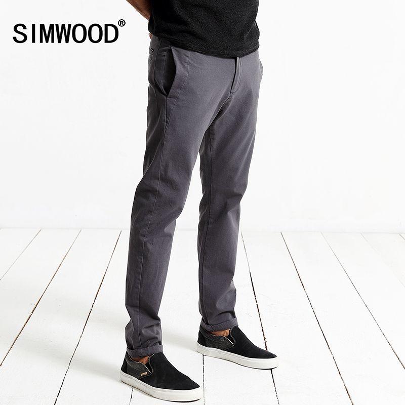 SIWWOOD 2017 Otoño Pantalones Casuales Hombres de La Moda Slim Fit Pantalones Cierre Con Cremallera de Alta Calidad de la Marca Masculina Ropa KX5537
