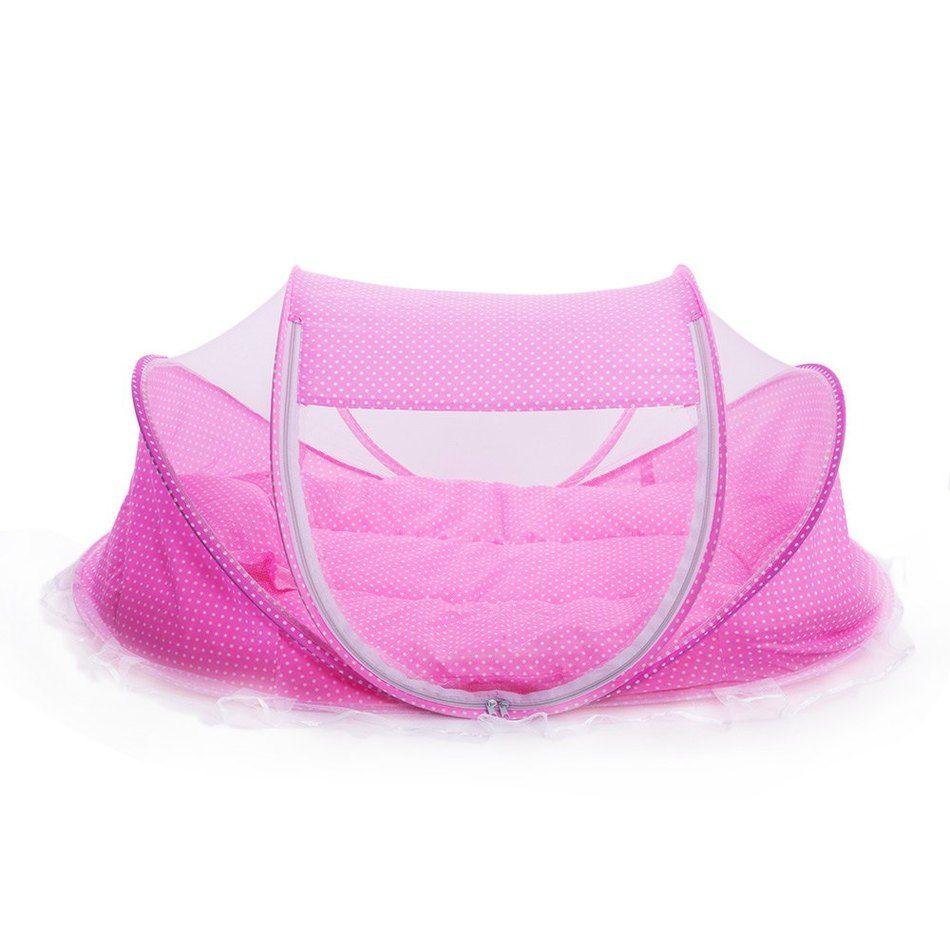Le plus bas Prix Promotion Mignon Lit Bébé 4 pcs Portable Type Confortable Bébés Pad avec Scellé Moustiquaire Bébé Moustiquaire