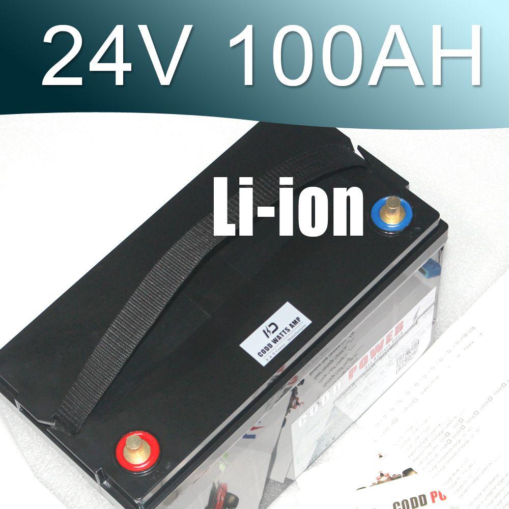 Elektro-fahrrad 24 V 100AH Lithium-ionen-batterie 25,9 V Li-Ion Dreirad Wasserdichte Box