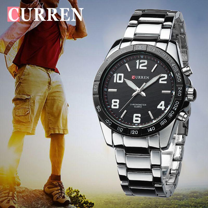 CURREN hommes montres haut de gamme marque de luxe militaire montres-bracelets en acier hommes affaires montre horloge étanche Relogio Masculino xfcs