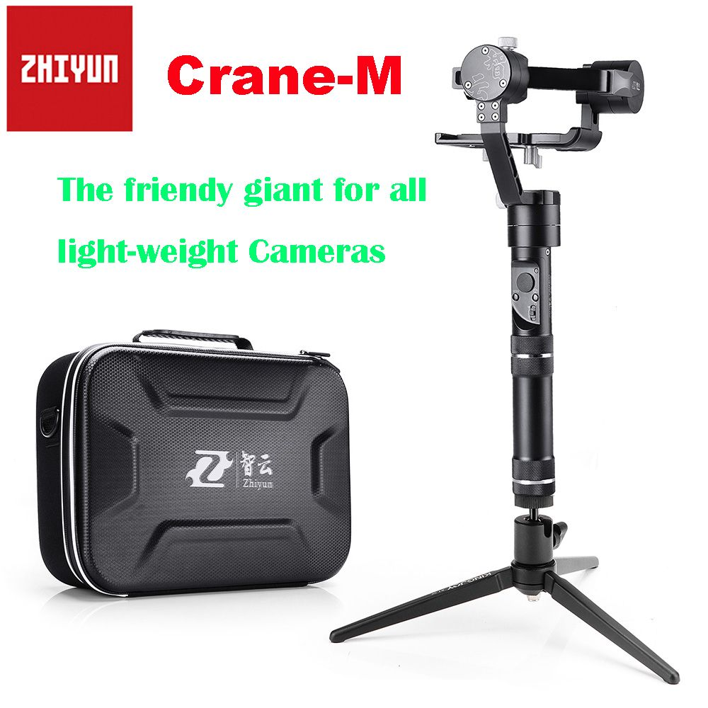Zhiyun Crane M Crane-M 3-axis Brushless Handle Gimbal Stabilizer for Sony Mirroless Camera Payload 125g-650g + Tabletop Tripod