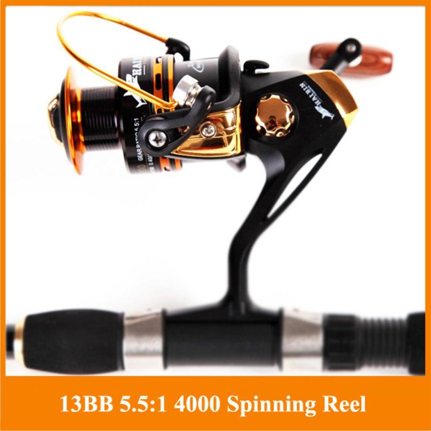 De pêche Spinning Reel 12 + 1 Roulements À Billes Spinning reel Super Forte de pêche reel 5.5: 1 Pêche À La Carpe Spinner pour la Pêche