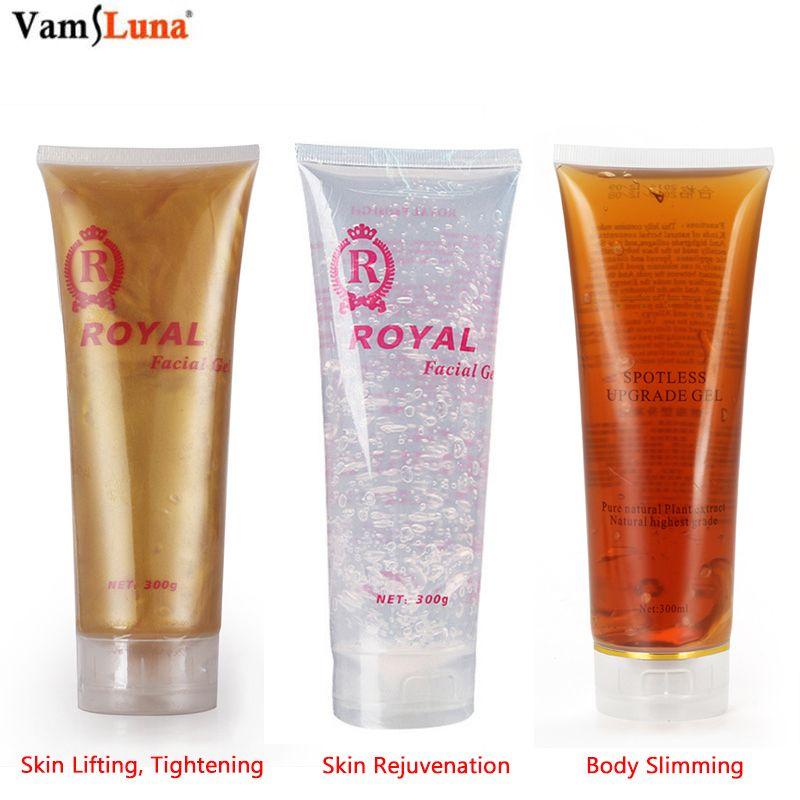 300 ml ultrasons RF 3 sortes de Gel de crème hydratante sûre pour appareil de beauté masseur, levage serrer le corps de rajeunissement minceur