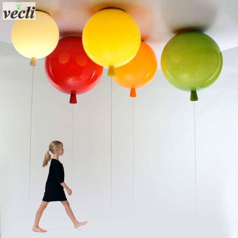 Ballon coloré plafonnier, enfant enfant chambre lampe bébé chambre lumière, étude salon maternelle bar pub plafonnier 20 CM