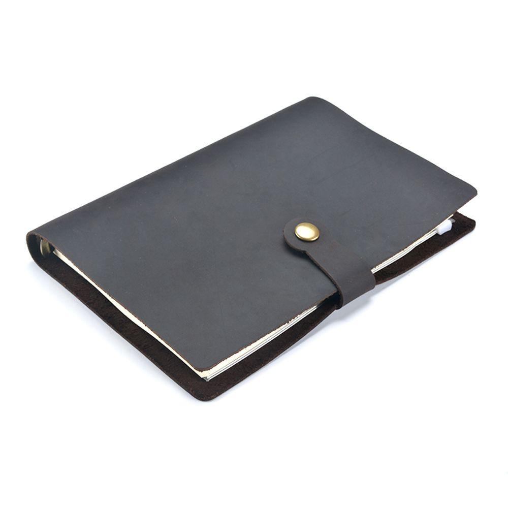Moterm Negocio Clásico Cuaderno De Cuero A5 piel de Vaca cubierta Recargables Diario Cuaderno Viajero Diario Hecho A Mano envío gratis