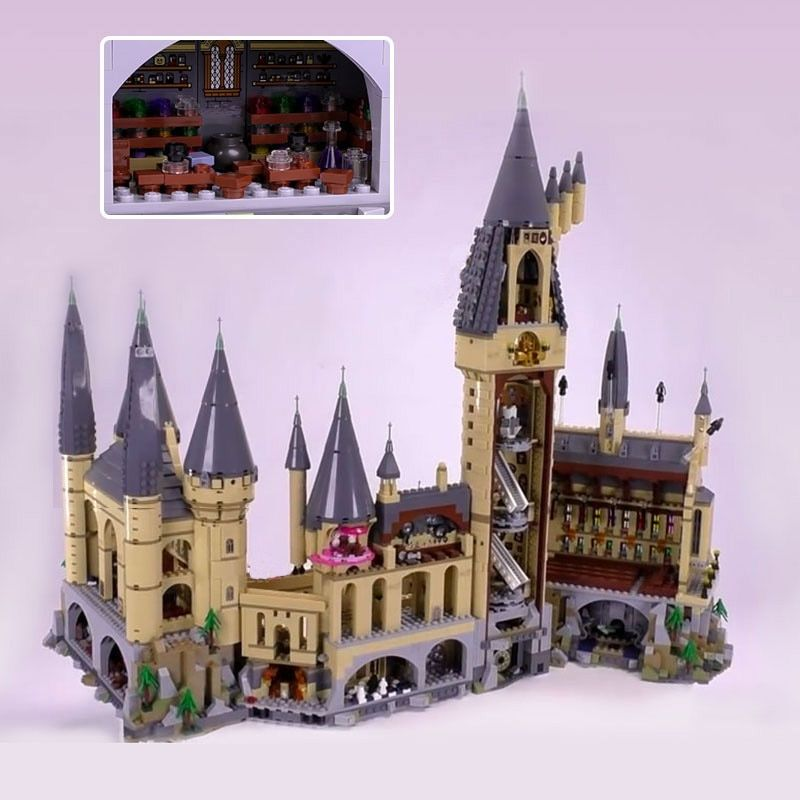 SY Magic Movie Figures Hogwarts Castle Model Building Blocks Bricks Educational Toys Set Compatible Harry Potter Legoing 71043