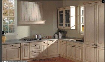 modular wooden cheap kitchen cabinet(LH-SW041)
