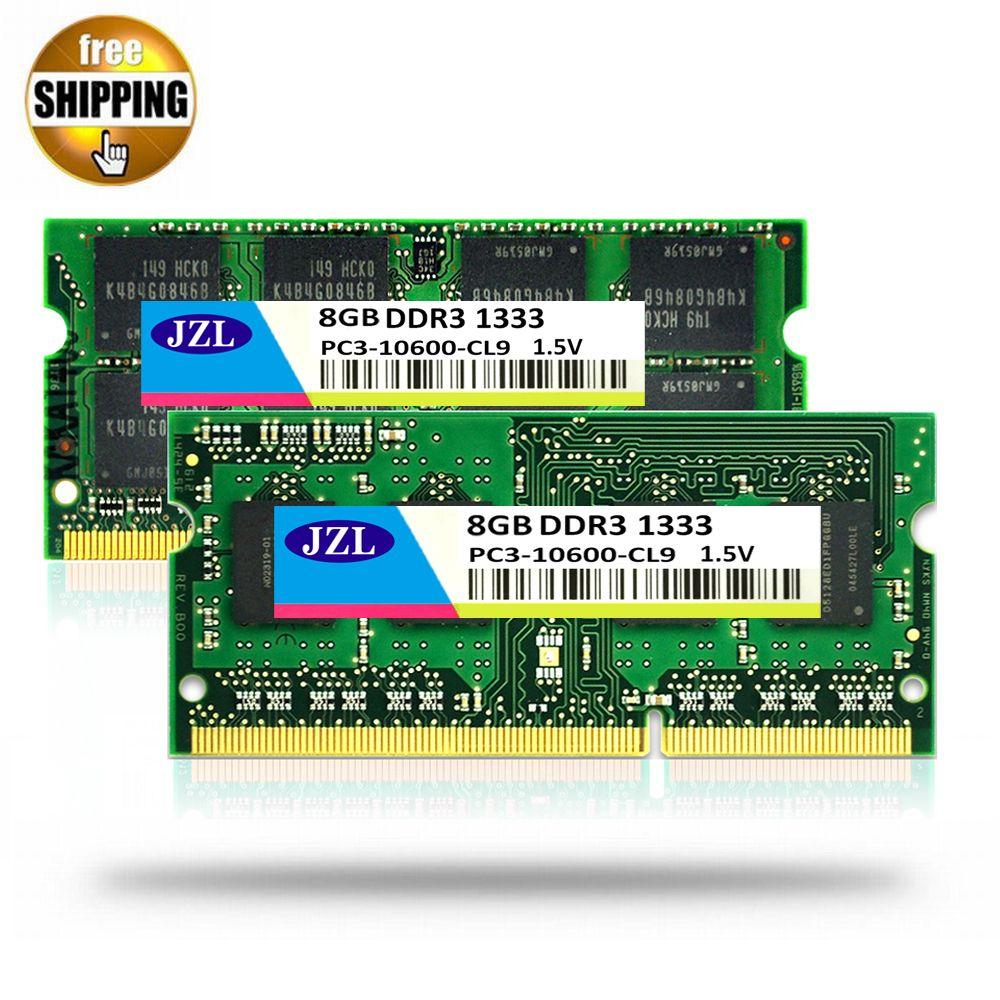 JZL DDR3 1333MHz PC3-10600 / PC3 10600 DDR 3 1333 MHz 8GB 204 PIN 1.5V CL9 SODIMM Memory Module Ram SDRAM for Laptop / Notebook