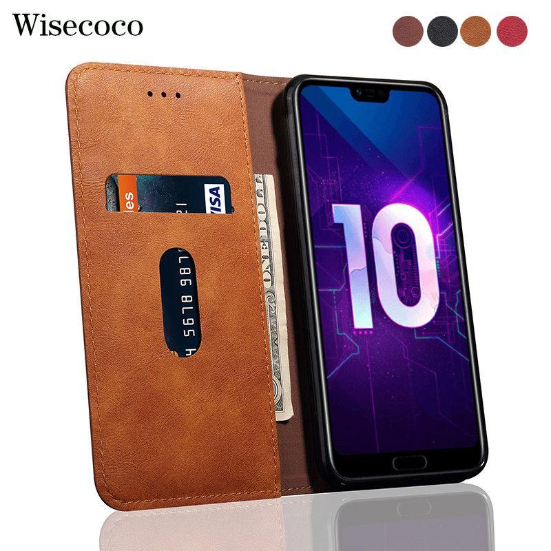 Flip Fall Für Huawei ehre 10 Luxus Leder Brieftasche Stehen Karte halter honor10 Handy Fällen Abdeckung Für Hawei honor 10 Etui