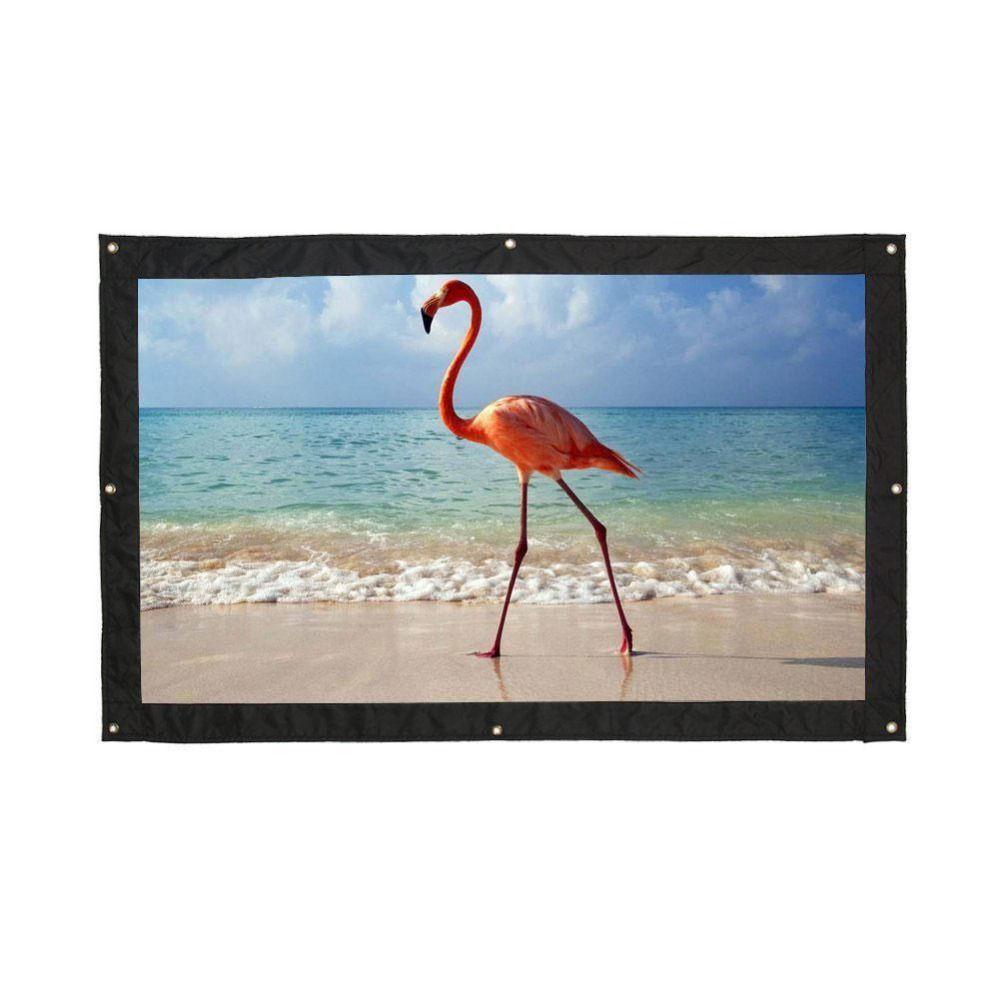Cewaal мягкая складная 120 дюймов 16: 9 соотношение полиэстер экран для проектора Плёнки дома Театр открытый портативный