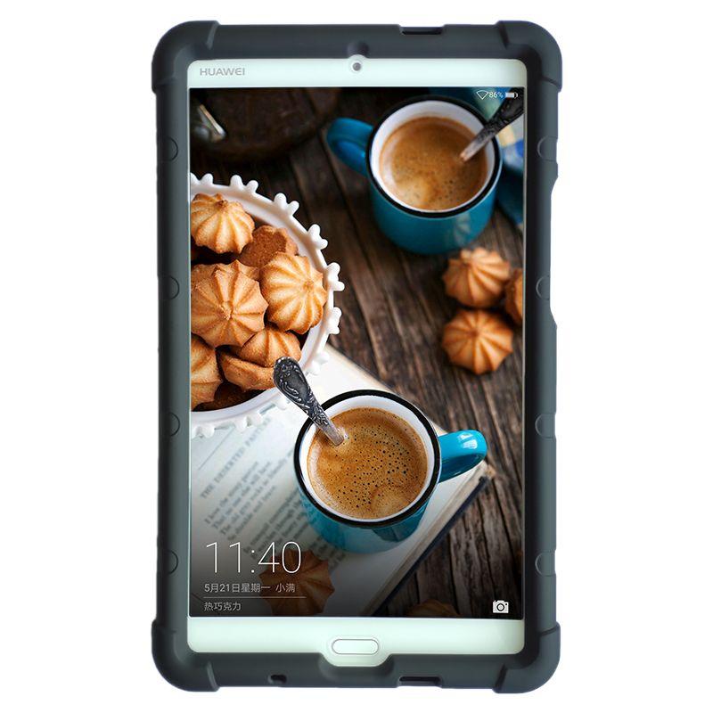 MingShore Pour Huawei MediaPad M3 8.4 W09 Antichoc En Silicone Souple Cas de Couverture pour Huawei 8.4 pouce M3 BTV-DL09 Silicone Pare-chocs