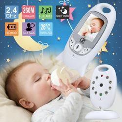Baby Monitor Video Warna Nirkabel Babyfoon Baba Keamanan Elektronik 2 Talk Nigh Vision LED Pemantauan Suhu Bebek Telsizi