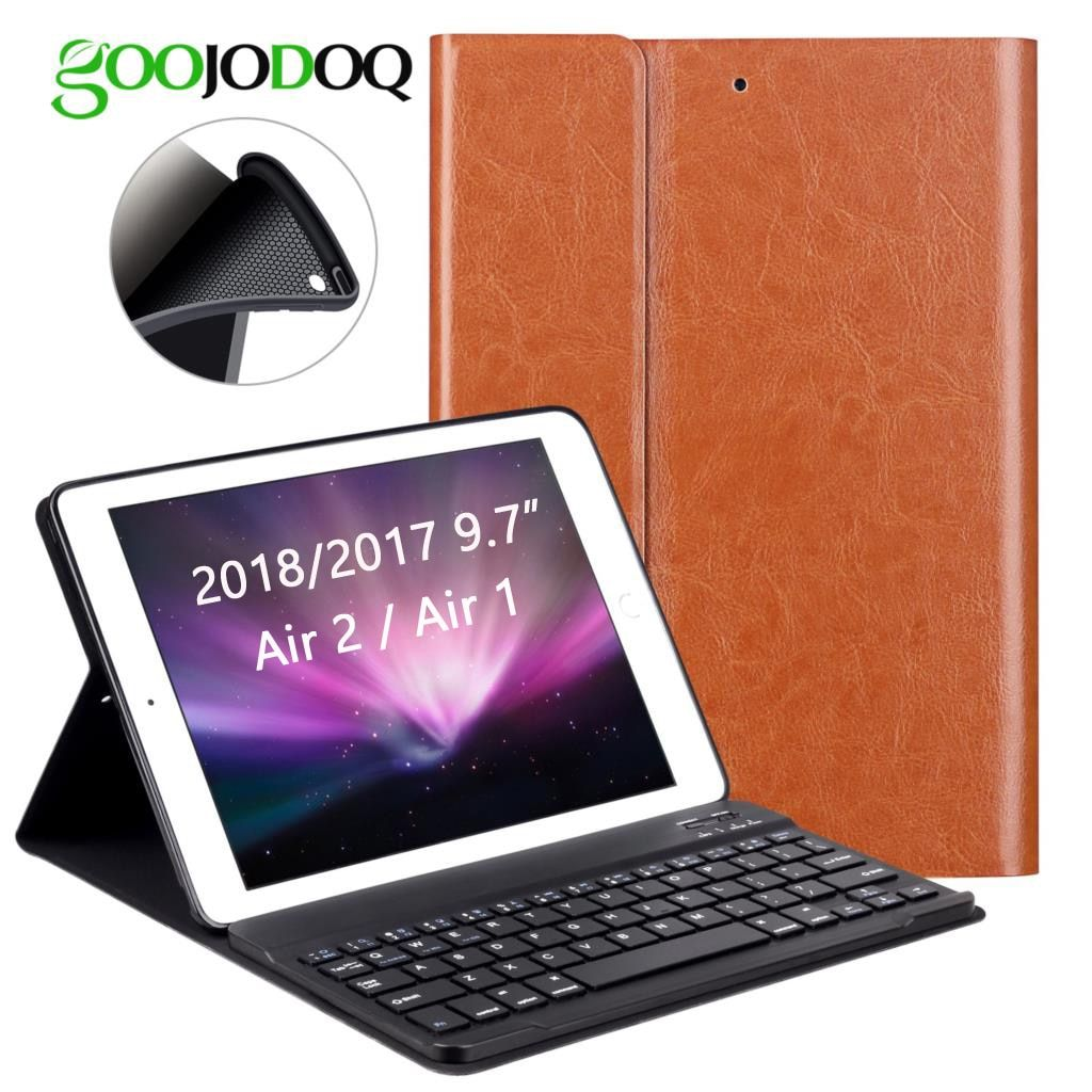 PU Leather Keyboard Case For iPad 9.7 2017 2018 / iPad Air 2 1 Silicone Soft Cover Multiple Folio Stand for iPad 2018 Case 9.7