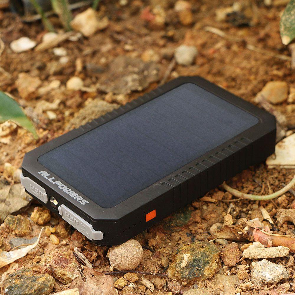Batterie Portable solaire Portable 12000mAh batterie externe Portable pour iPhone iPad Samsung Huawei Xiaomi Camping en plein air