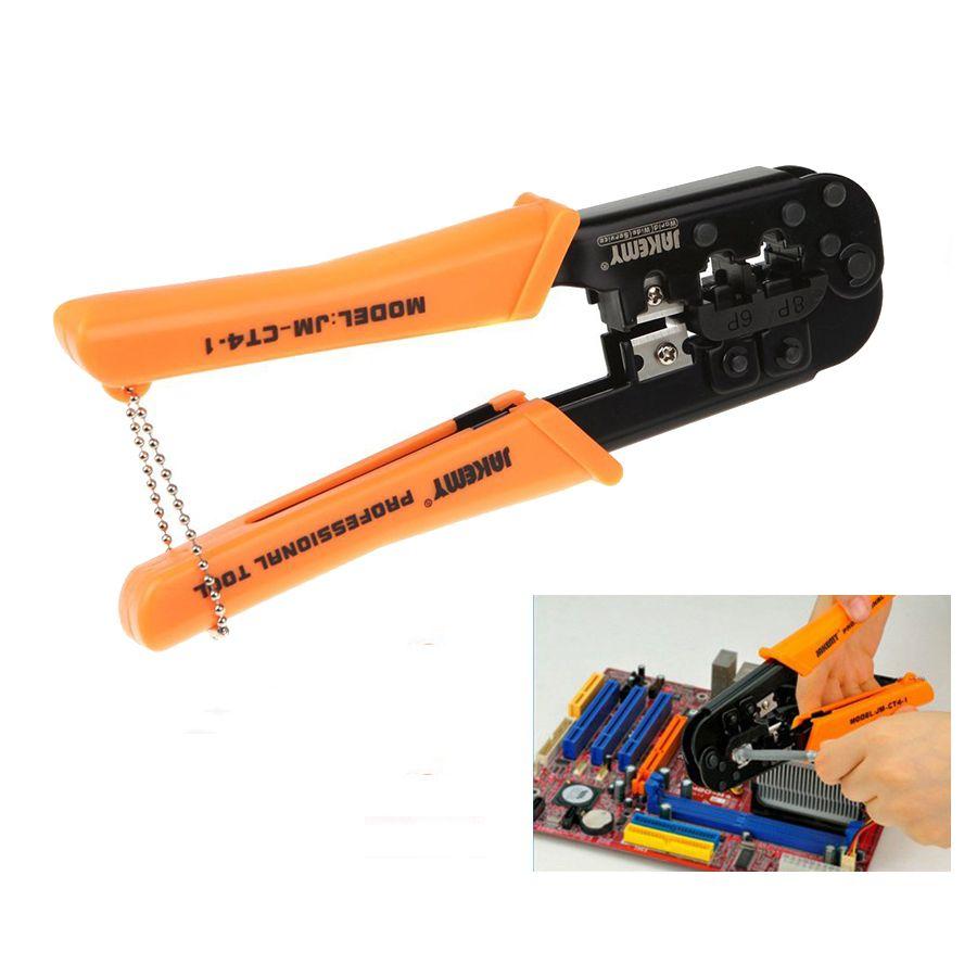 Multitool JM-CT4-1 6 P 8 P Ethernet Internet câble pince à sertir réparation outils à main coupe-fil pince coupante trousse à outils