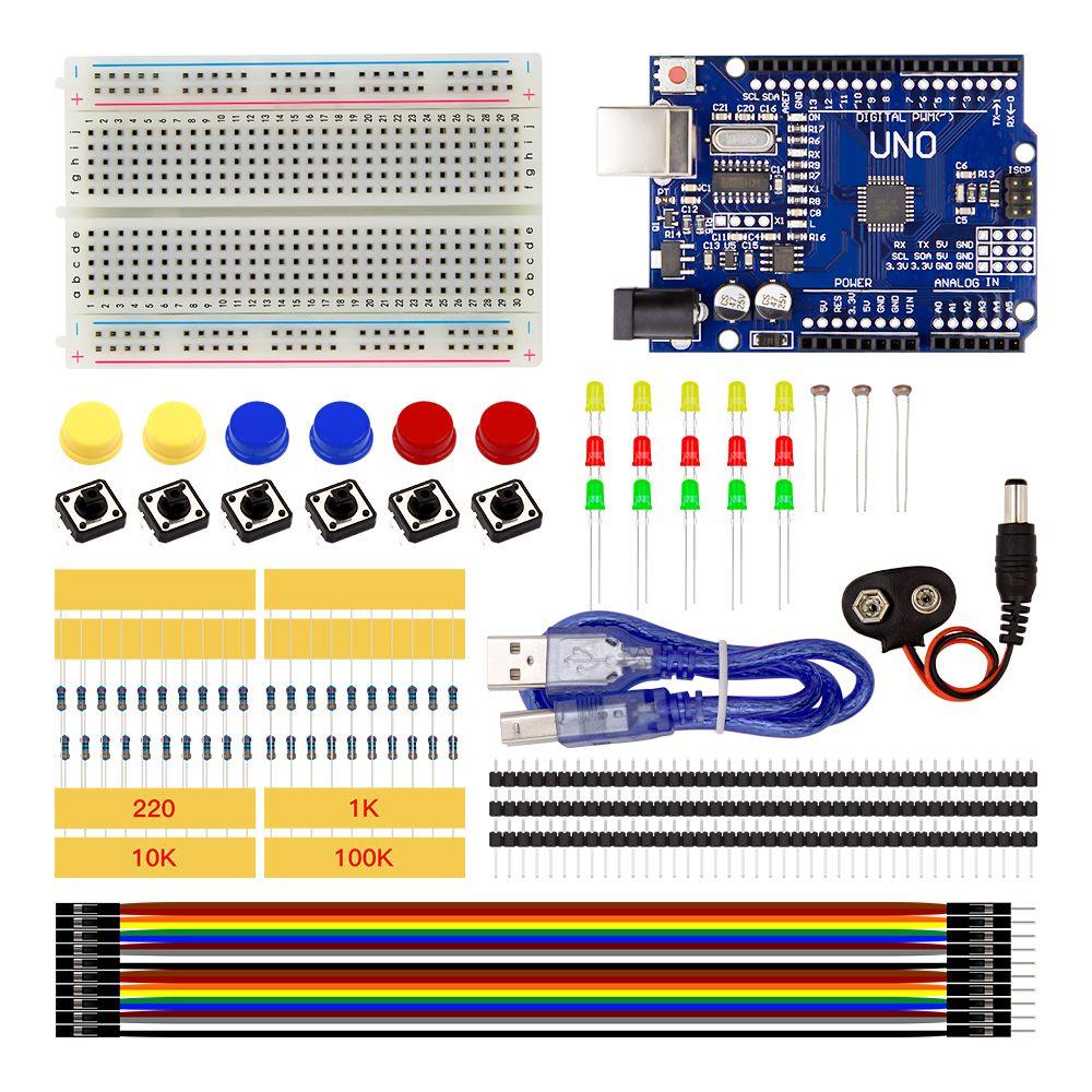 Starter kit UNO R3 мини Макет LED перемычка кнопка для Arduino
