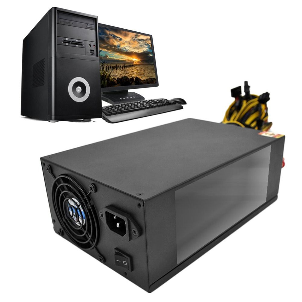 High Efficiency Rated 2200W Power Supply with EMC with Dual 8CM Low Noise Cooling Fans for Bitcoin Mining Machine