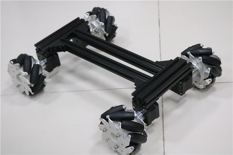 large smart Mecanum RC robot Car Metal Chassis Frame with 42 Stepper Motor for Arduino DOIT 2018 New Design diy rc toy kit