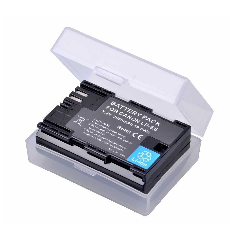 2650mAh LP-E6 LPE6 LP E6 lp-e6n batterie pour Canon EOS 5D Mark IV 5D2 5DS R Mark II 2 III 3 6D 60D 60Da 7D 7D2 7DII 70D Batterie