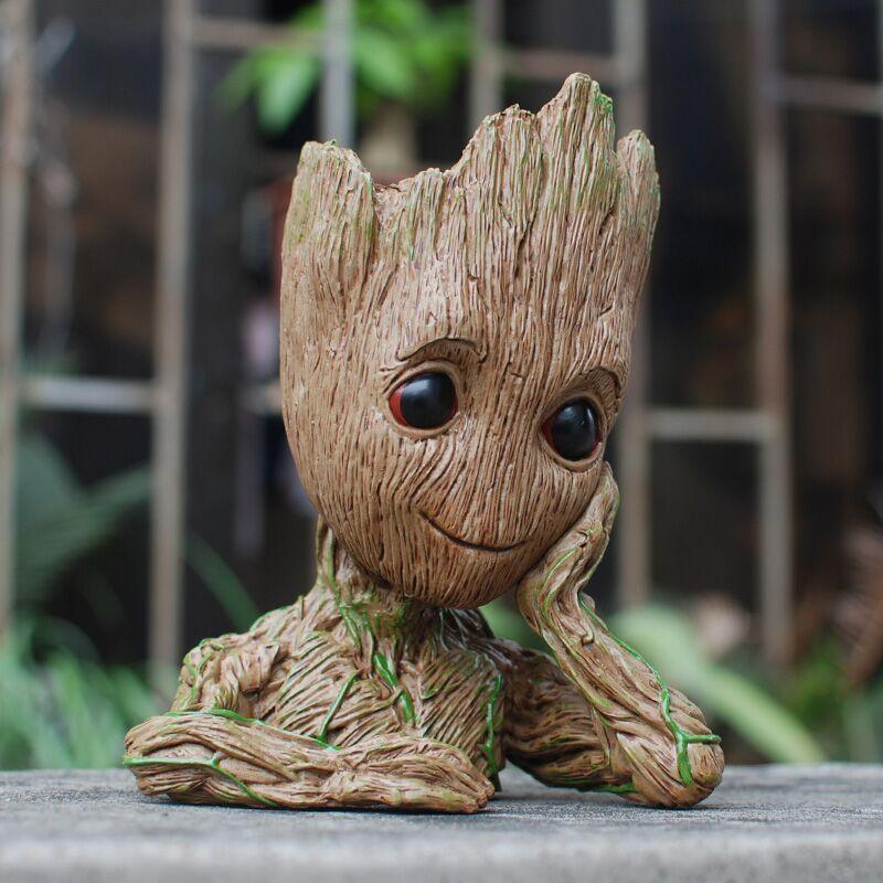 Tree Man Groot Action Figure Penholder PVC Marvel Movie Hero Model Guardians Vessel Guardians of the Galaxy New Year Gift