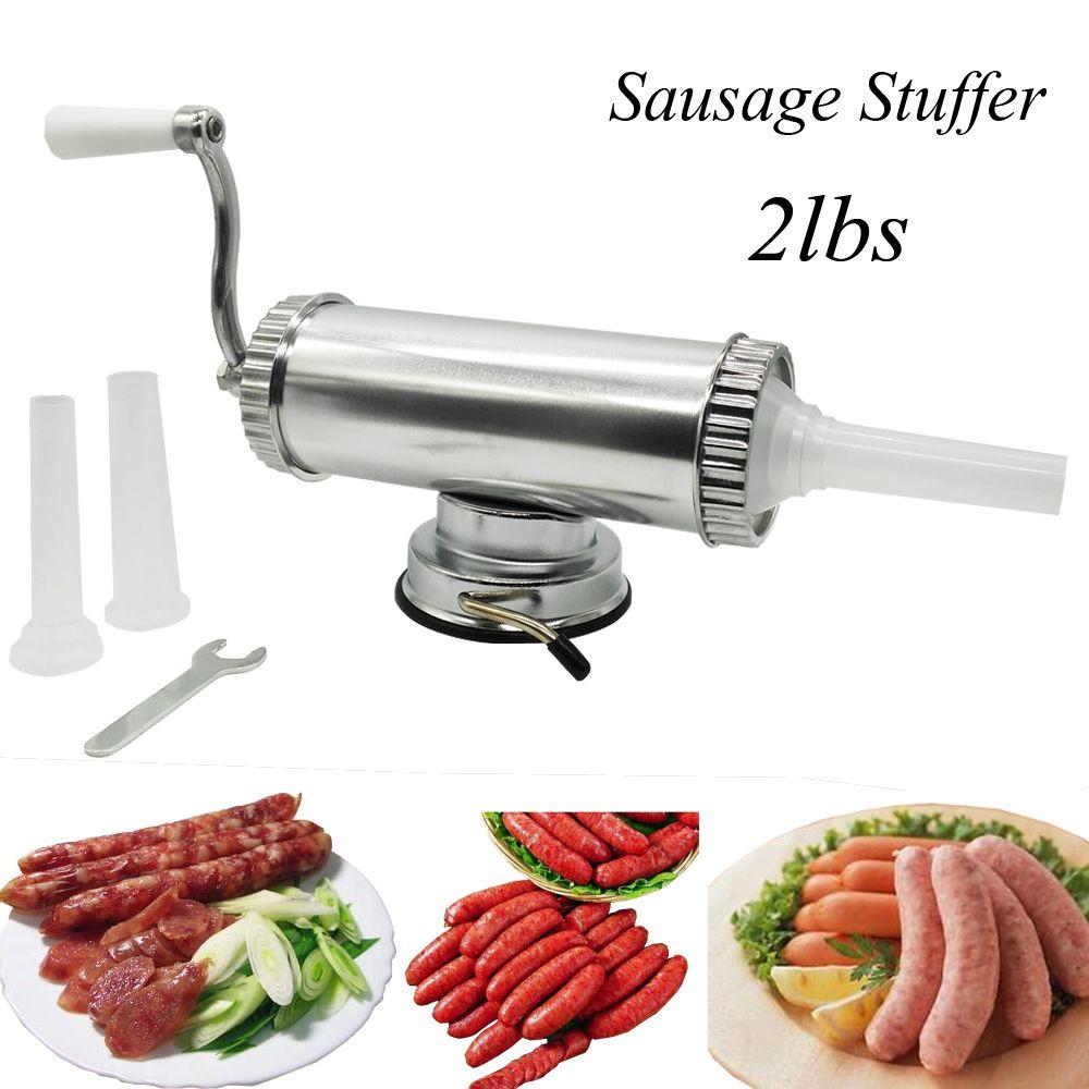 Bouchage manuel Horizontal de saucisse de viande de 2lbs faisant la Machine remplisseur de saucisse