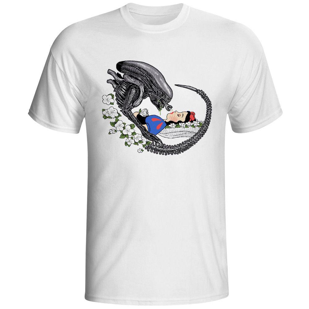 Alien T-shirt Parodie Conception T-shirt De Mode Nouveauté Style Cool T-shirt Hommes Femmes Tee