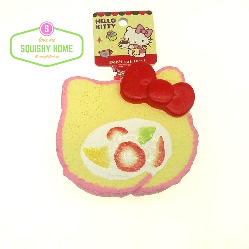Kuutti Squishy 1 pc Jumbo Kitty Cat Squishy Slow Rising Roll Cake Bread Squishy Soft Kawaii Phone Strap Dust plug Anti Stress