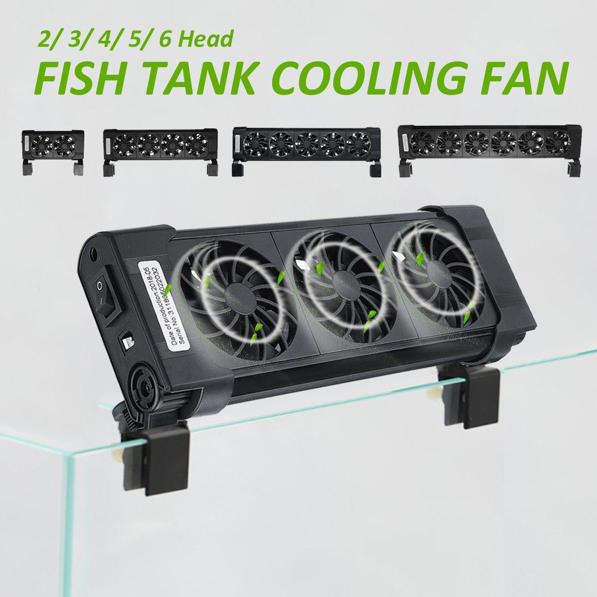 2/3/4/5/6 köpfe Fan 110-240 v Aquarium Kühlung Fans Fisch Tank kalten Wind Chiller Einstellbare Wasser Kühler Temperatur Control