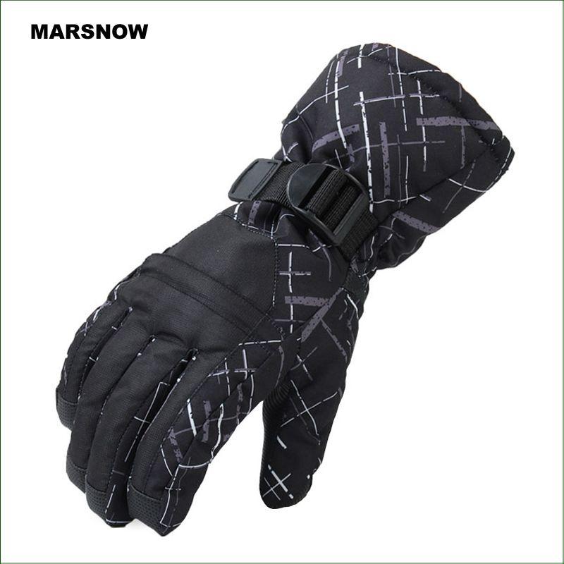 SG05 Wasserdicht Schnee Handschuhe Winter Motorrad Radfahren Ski Snowboard Handschuhe Schwarz Im Freien Freies Verschiffen