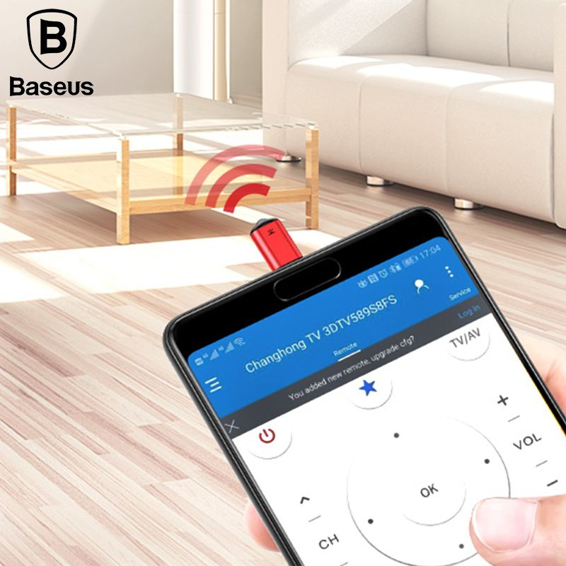 Baseus RO2 Type-C Jack Universal IR remote control for Samsung <font><b>Xiaomi</b></font> Smart infrared remote control for TV aircondition STB DVD
