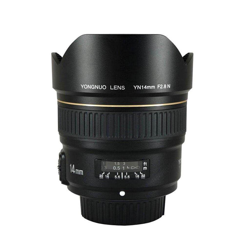 YONGNUO 14mm F2.8 Ultra-weitwinkel Prime Objektiv YN14mm Auto Focus AF MF Metall Montieren Objektiv für Nikon d5300 d3400 d3100 d200 d810