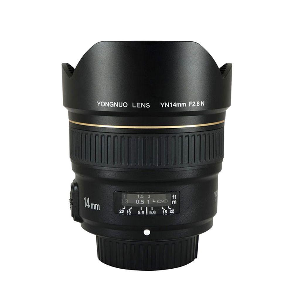 YONGNUO 14mm F2.8 Ultra-wide Angle Prime Lens YN14mm Auto Focus AF MF Metal Mount Lens for Nikon d5300 d3400 d3100 d200 d810