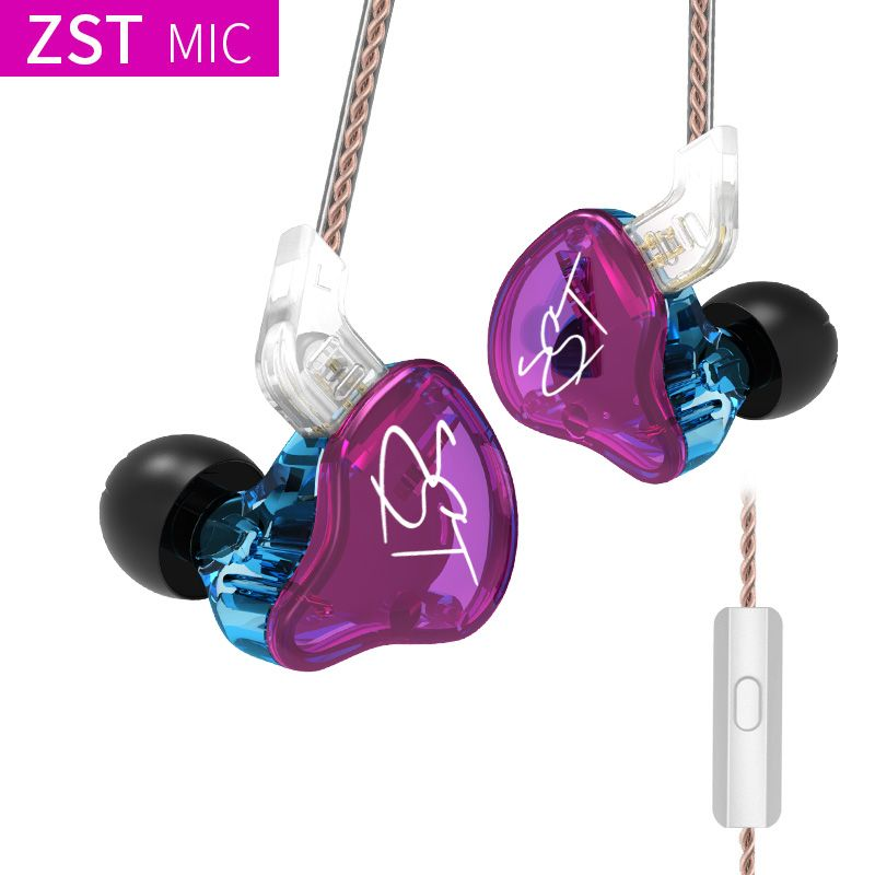 KZ ZST DD+BA heavy bass earphone headset HiFi earphone iron 4 core control music movement exchange Bluetooth cable ZSN AS10 ES4