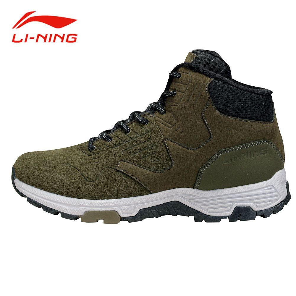 Li-Ning Men Winter Thicken Walking Jogging Shoes WARM SHELL Technology Anti-Slip Sneakers LiNing LN Cozy Sports Shoes AGCM193