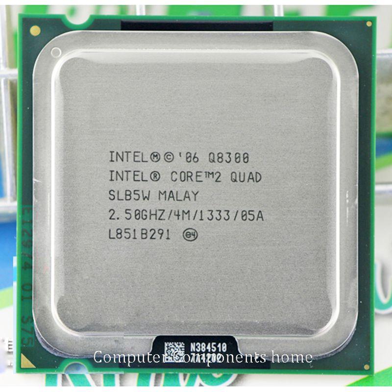 INTEL core 2 quad Q8300 CPU Processeur (2.5 Ghz/4 M/1333 GHz) Prise 775 De Bureau CPU livraison gratuite