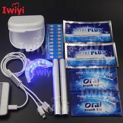 Kit avanzado 3 interfaz 16led Blanqueadores de dientes pluma desensibilizar tiras de dientes limpie caja a prueba de polvo 3D blanco blanqueo oral Higiene oral