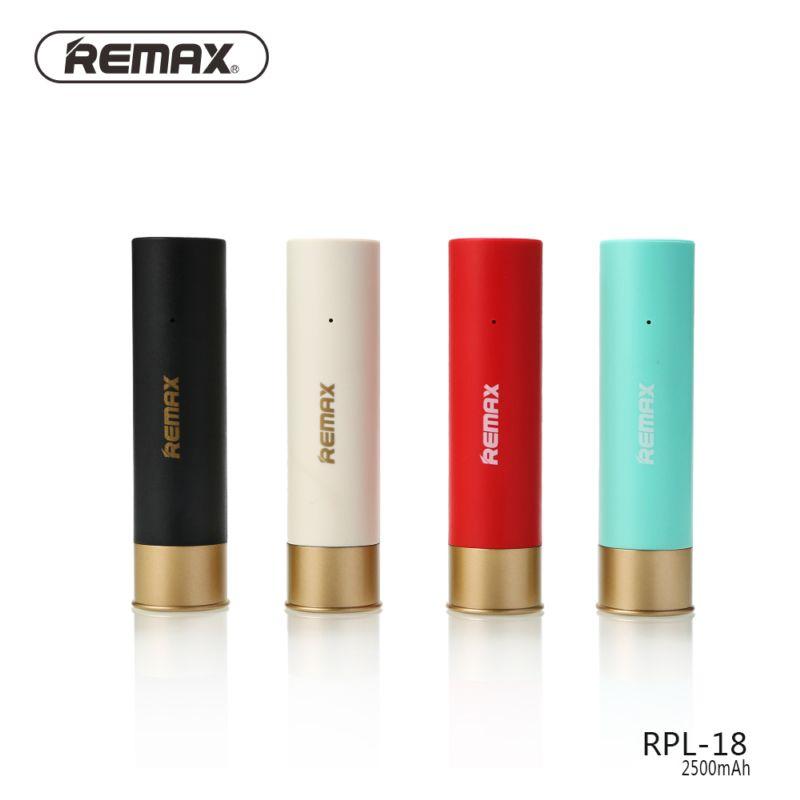 Remax RPL-18 Mini Portable batterie externe 2500 mAh coque Powerbank pour xiaomi téléphone universel polymère batterie au lithium RPL18