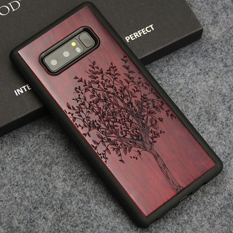 For Samsung Note 8 Case Luxury Wood Carving Totem Tree Flower Cover for Samsung Galaxy Note 8 Soft TPU Protection Phone Cases