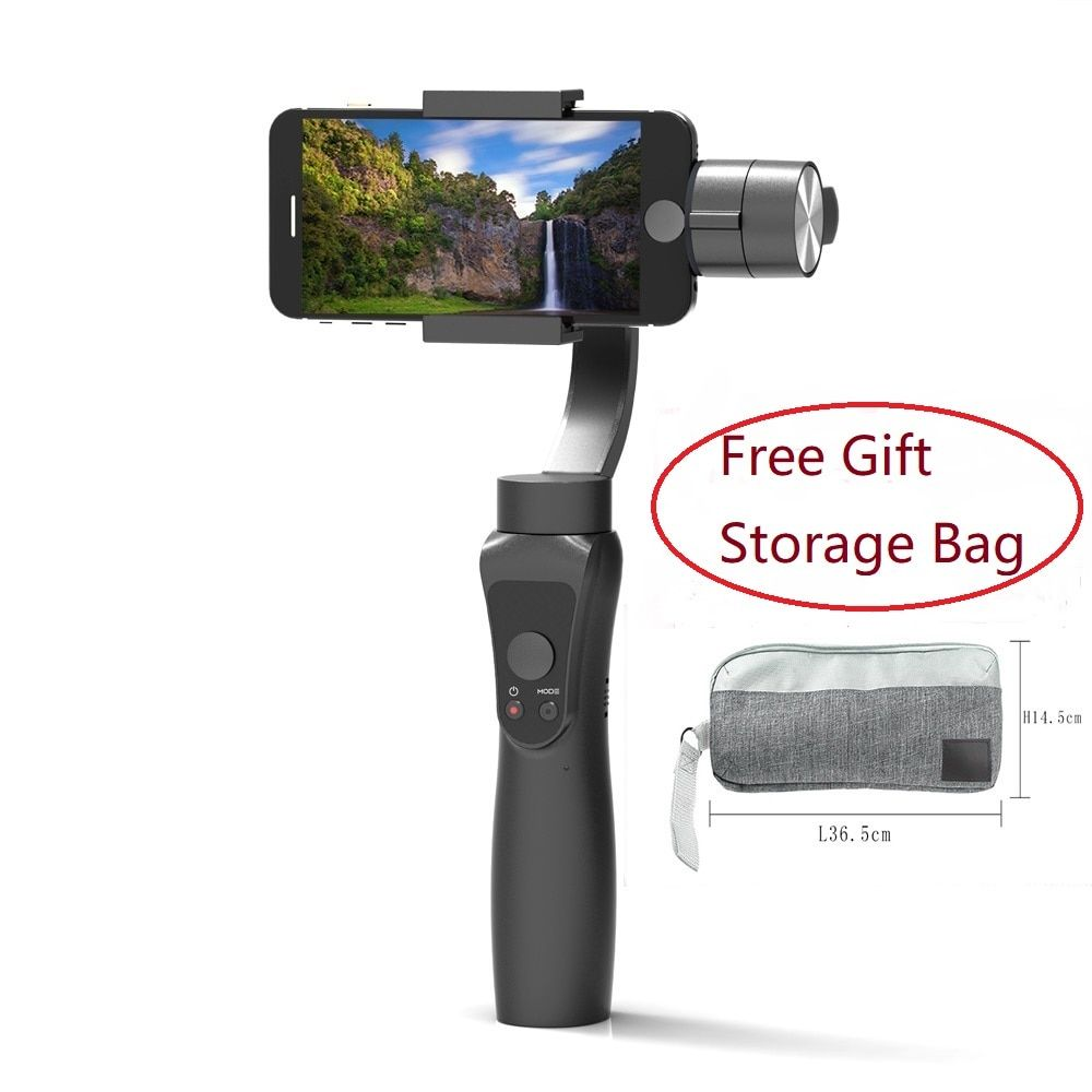 Smooth 3 Axis Handheld Gimbal Portable stabilizer Smartphone for iPhone XR 8 Xiaomi Samsung S8 XiaoYi 4k Gopro Action Camera