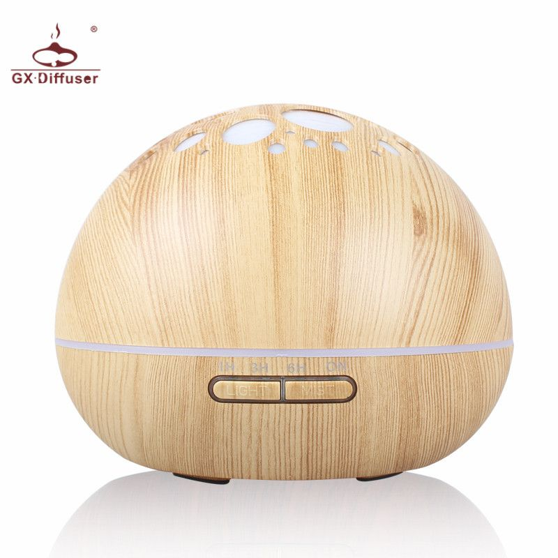 GX.Diffuser 300ml Home Air Humidifier Essential Oil Diffuser Aromatherapy Electric Aroma Diffuser Ultrasonic Mist Maker Purifier