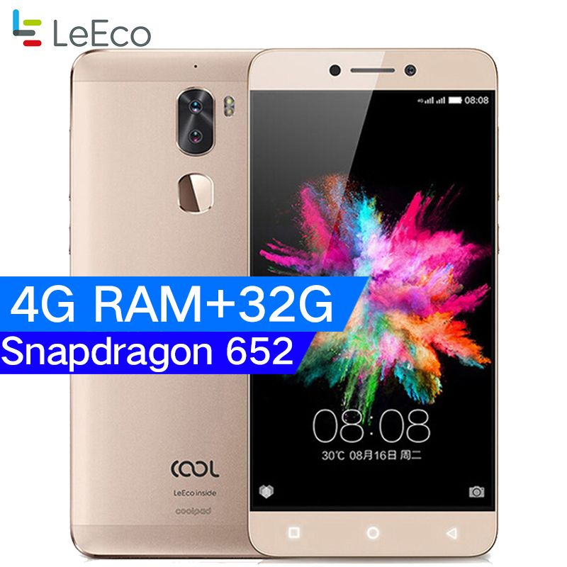 D'origine Letv Frais 1 Double Leeco Coolpad Cool1 Snapdragon 652 Mobile Téléphone 3 GB RAM 32 GB 5.5 FHD 13MP Double Caméras D'empreintes Digitales ID