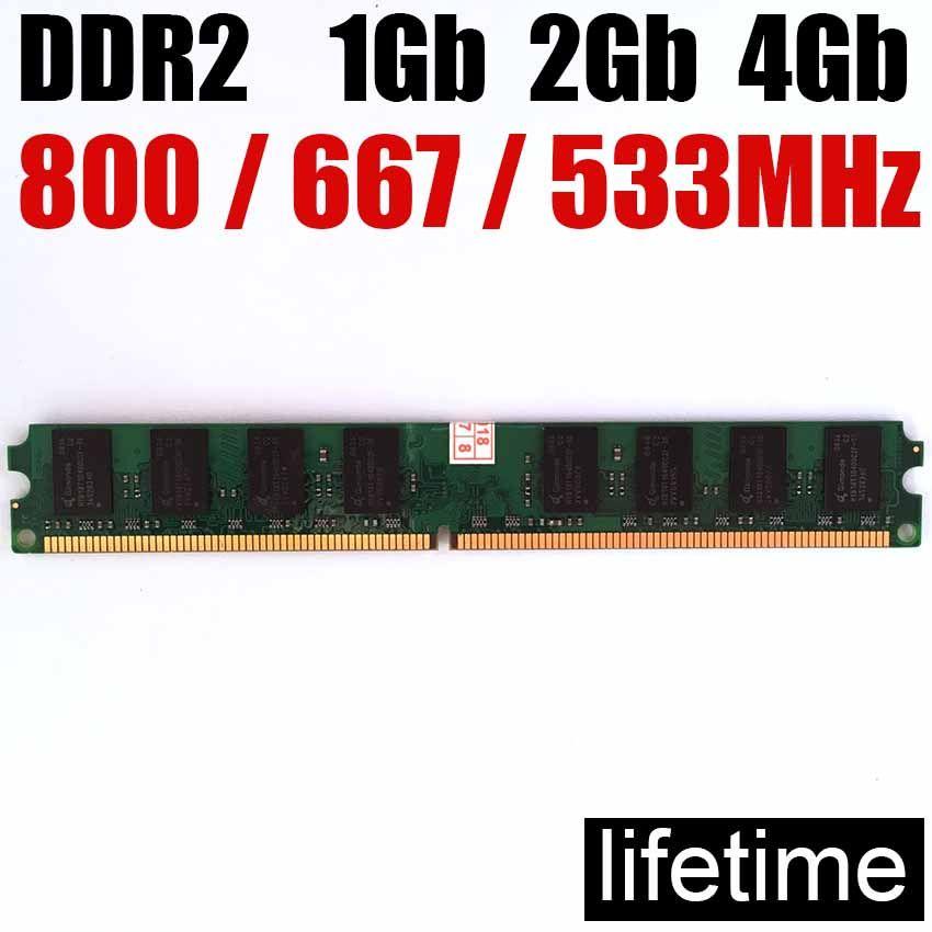 Mémoire RAM 4 Go DDR2 8 Go 800 Mhz 667 Mhz 533 Mhz/8G 4G ddr 2 8 Go 533 667 800 ddr2 4 Gb ordinateur de bureau de mémoire-garantie à vie
