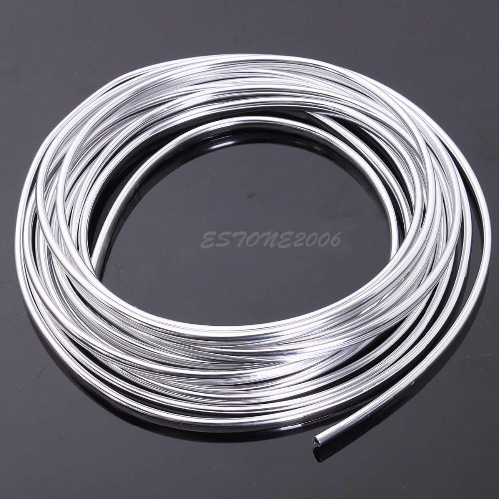 15M Chrome Moulding Trim Strip Car Door Edge Scratch Guard Protector Cover New