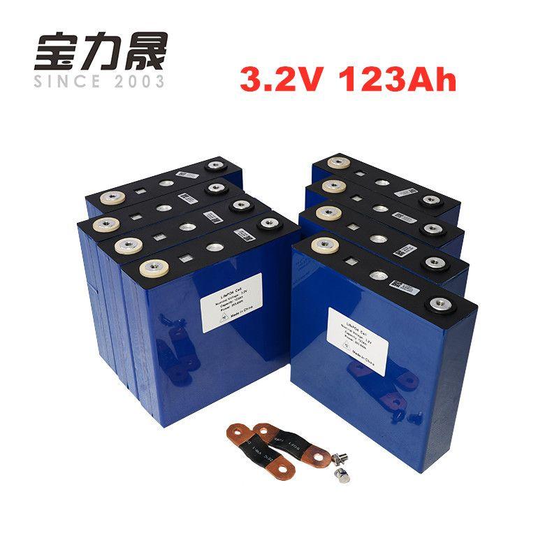 NEUE 8PCS 3,2 V 120Ah lifepo4 batterie UNS EU STEUER FREIES UPS oder FedEx 4000 ZYKLUS LFP lithium-solar batterie 123ah solar 24V120Ah zellen