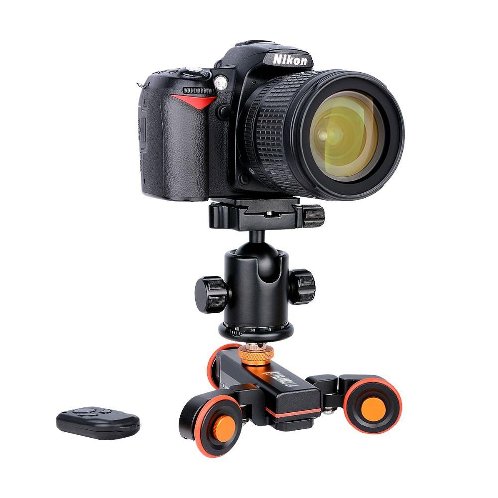 Yelangu L4 DSLR Motorisé Électrique Autodolly Télécommande Vidéo Rail Track Curseur Pour Téléphone DSLR Caméra Smartphone Gopro
