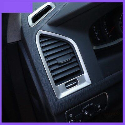 Garniture de couvercle de sortie de climatisation supérieure en acier inoxydable pour Volvo XC60
