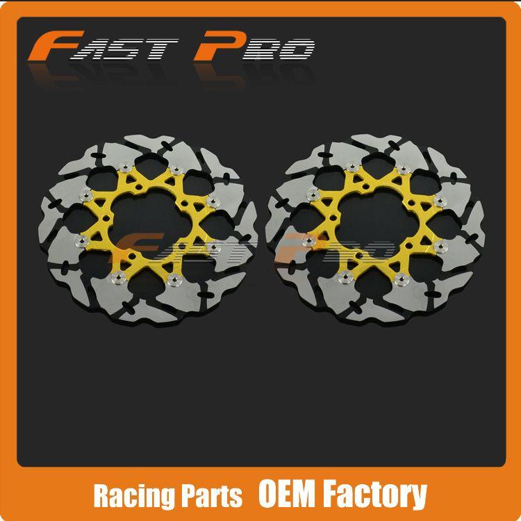 1 Pair Front Brake Disc Rotor For Suzuki GSXR600 GSXR750 06 07 K6 GSXR1000 05-08 K5 VZR1800 Intruder M1800 07-12