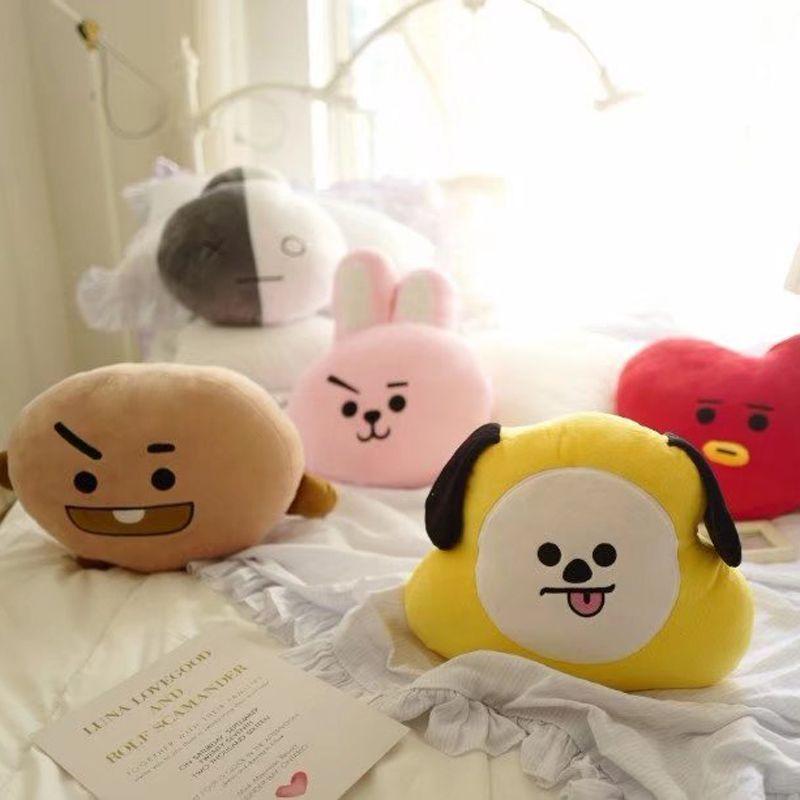 Kpop Bangtan Boys Army Bts Love Yourself Bt21 Vapp Pillow Warm Bolster Soft Plush Doll Korean Koya Tata Cooky Chimmy Van Mang